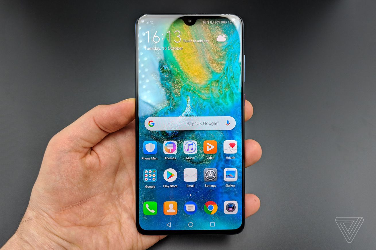 huawei announces mate 20 with 6 5 inch display and tiny notch