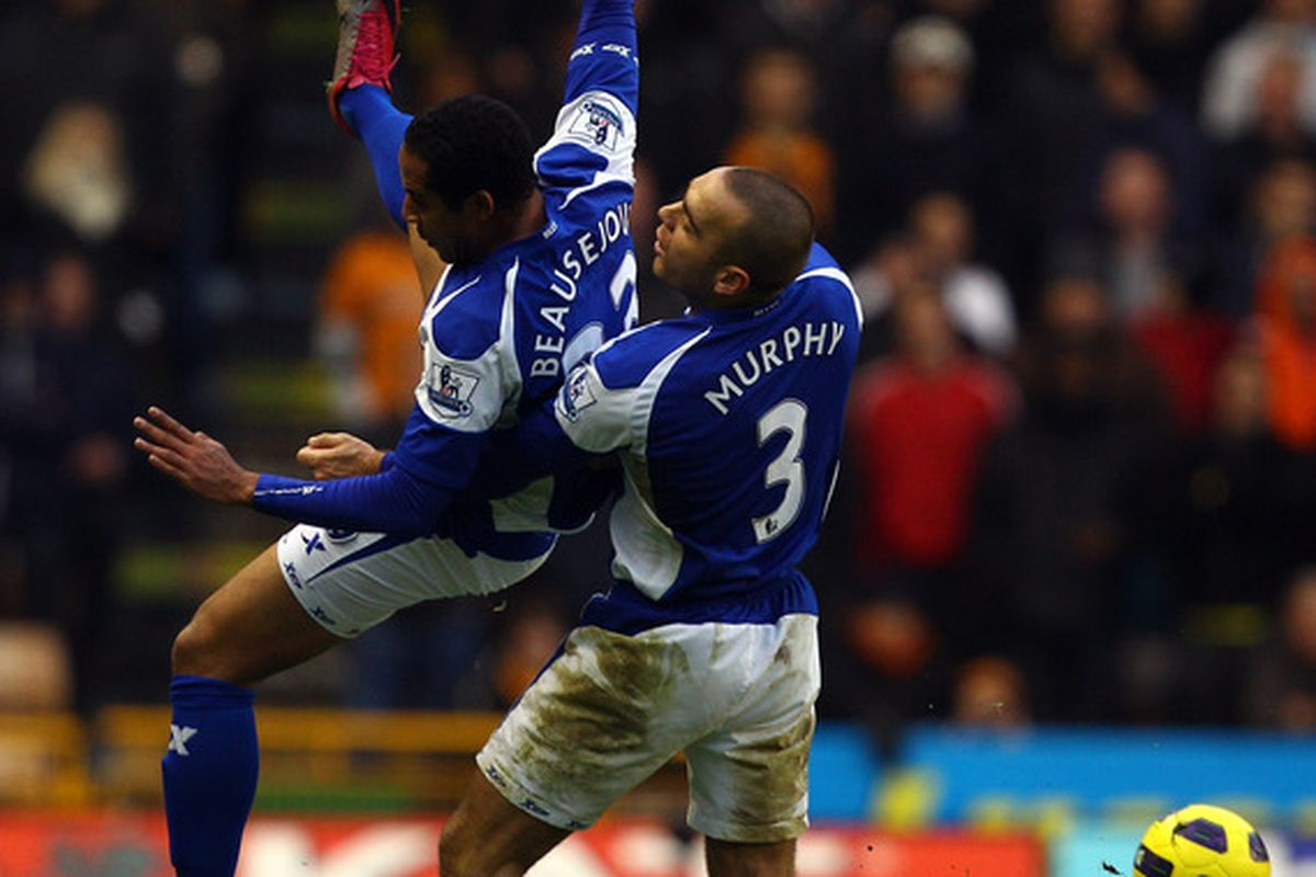 Weird Picture. Why are they tackling each other? Maybe this won't be a Bormingham match.