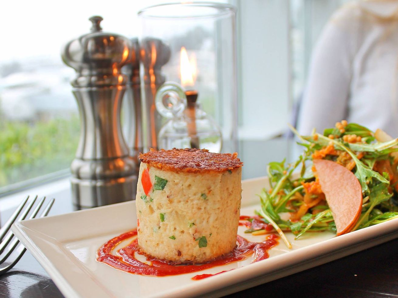 Chandler's Crabhouse is known, obviously, for seafood dishes like it's massive crab cake.