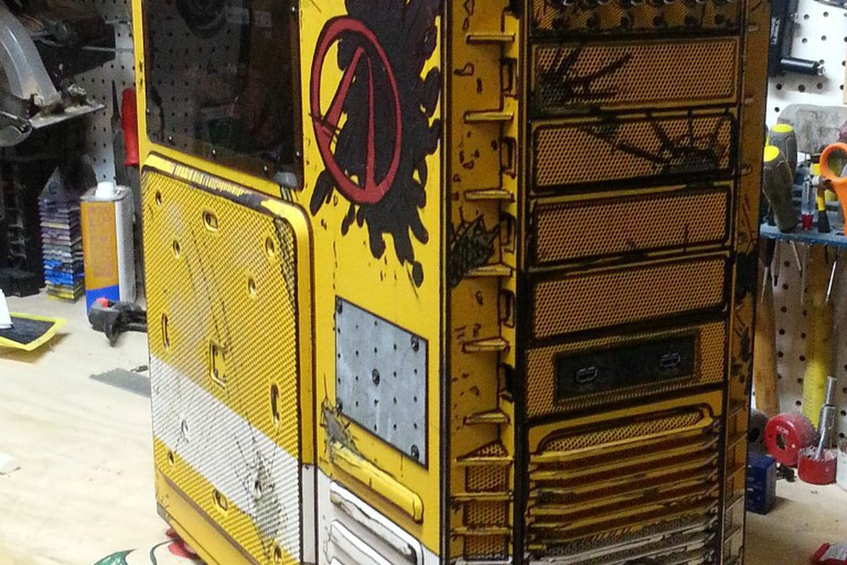Pc Case Customized To Resemble Borderlands Weapon Caches
