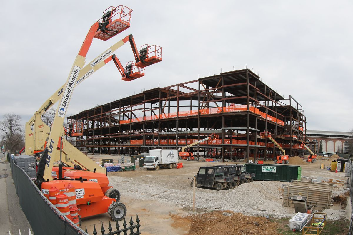 New York Islanders Home at Belmont Construction Stopped