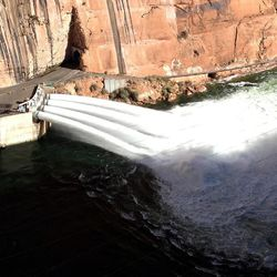 The U.S. Department of the Interior triggered the first high-flow experimental release at Glen Canyon Dam since 2008 Monday, Nov. 19, 2012.