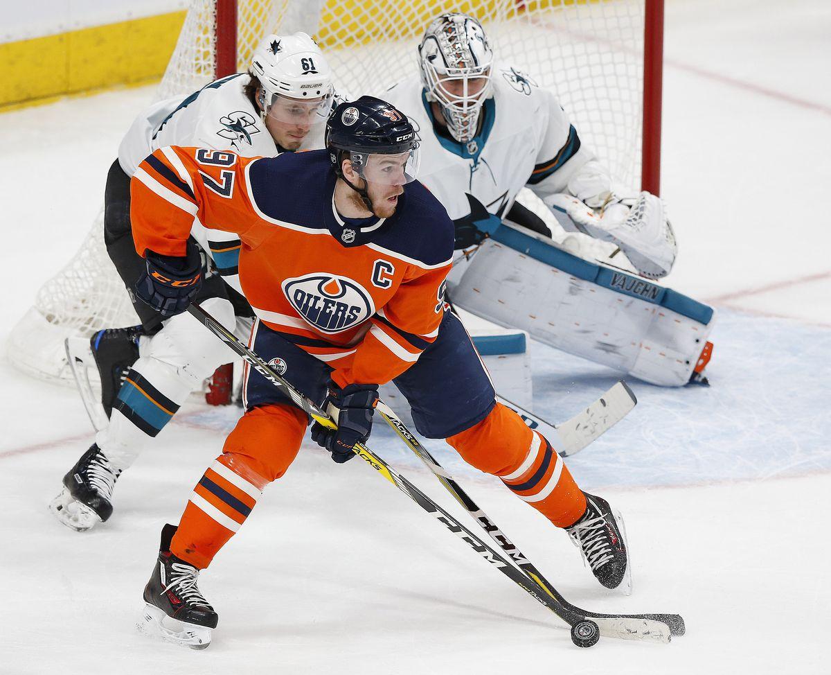 NHL: San Jose Sharks at Edmonton Oilers