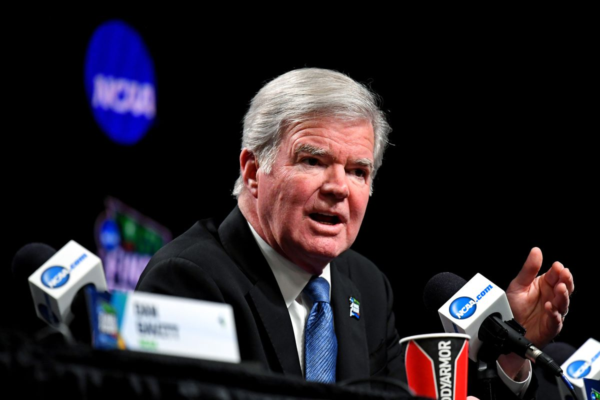 NCAA Basketball: Final Four-NCAA President Dr. Mark Emmert-Press Conference