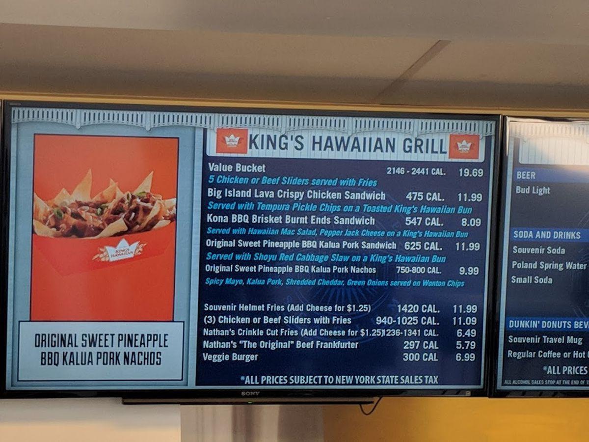 Kings Hawaiian Menu