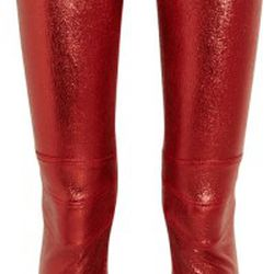Metallic stretch-leather motocross pants<br />Original price: $4,255<br />NOW $851<br />80% OFF