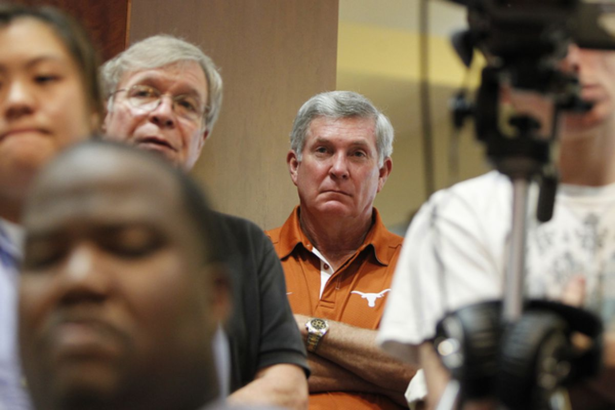 Mack Brown has gotten used to not being the center of attention.