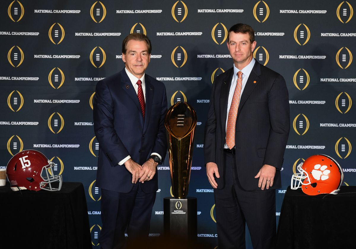 NCAA FOOTBALL: JAN 10 College Football Playoff National Championship - Head Coaches Press Conference