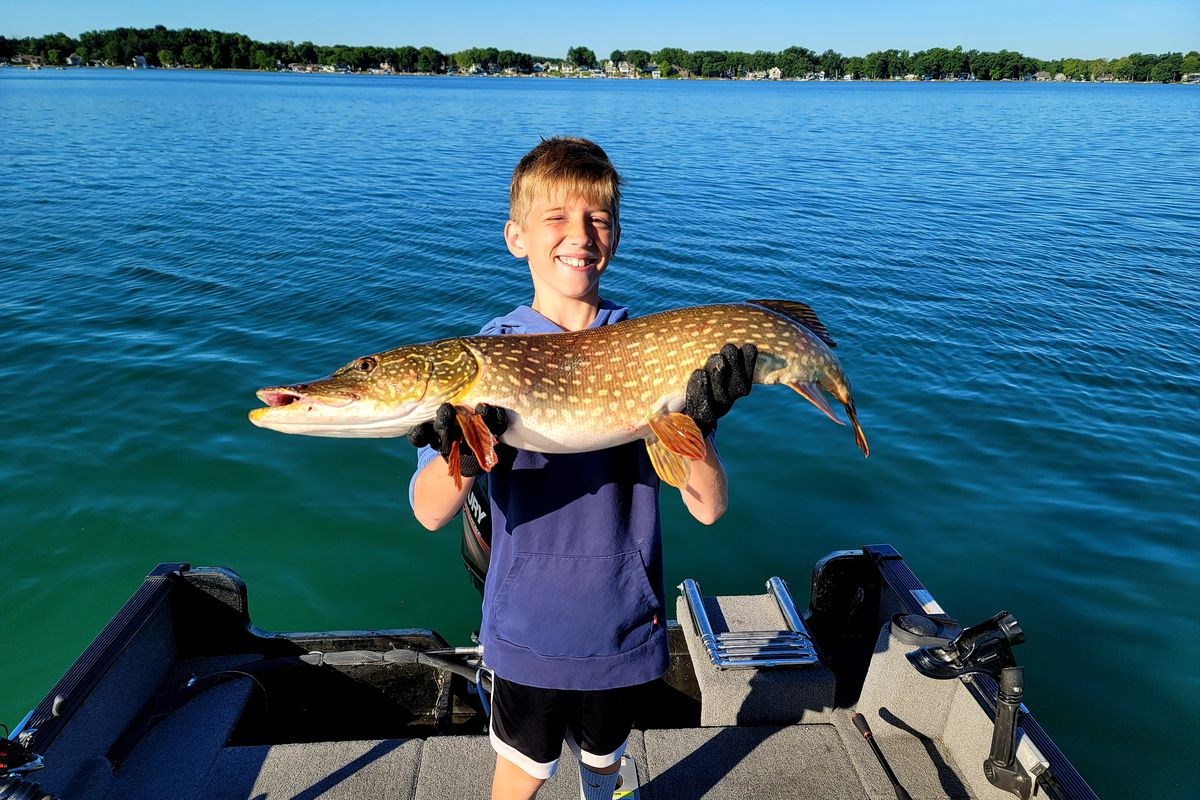 On Diamond Lake, Evan Burian added a good northern pike to list of catches. Provided photo