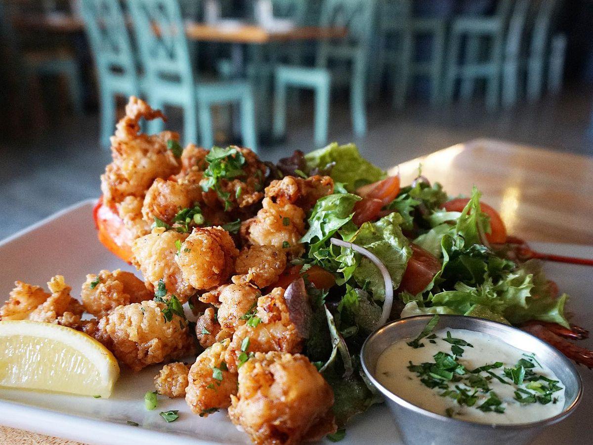 Chicken fried lobster