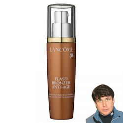 Flash Bronzer Anti-age by Lancome<br />It's a tinted facial self tanner that minimizes and prevents signs of aging while delivering optimal hydration and an irresistible glow all while providing SPF 15 protection. Perfect for being so close to the sun, ye