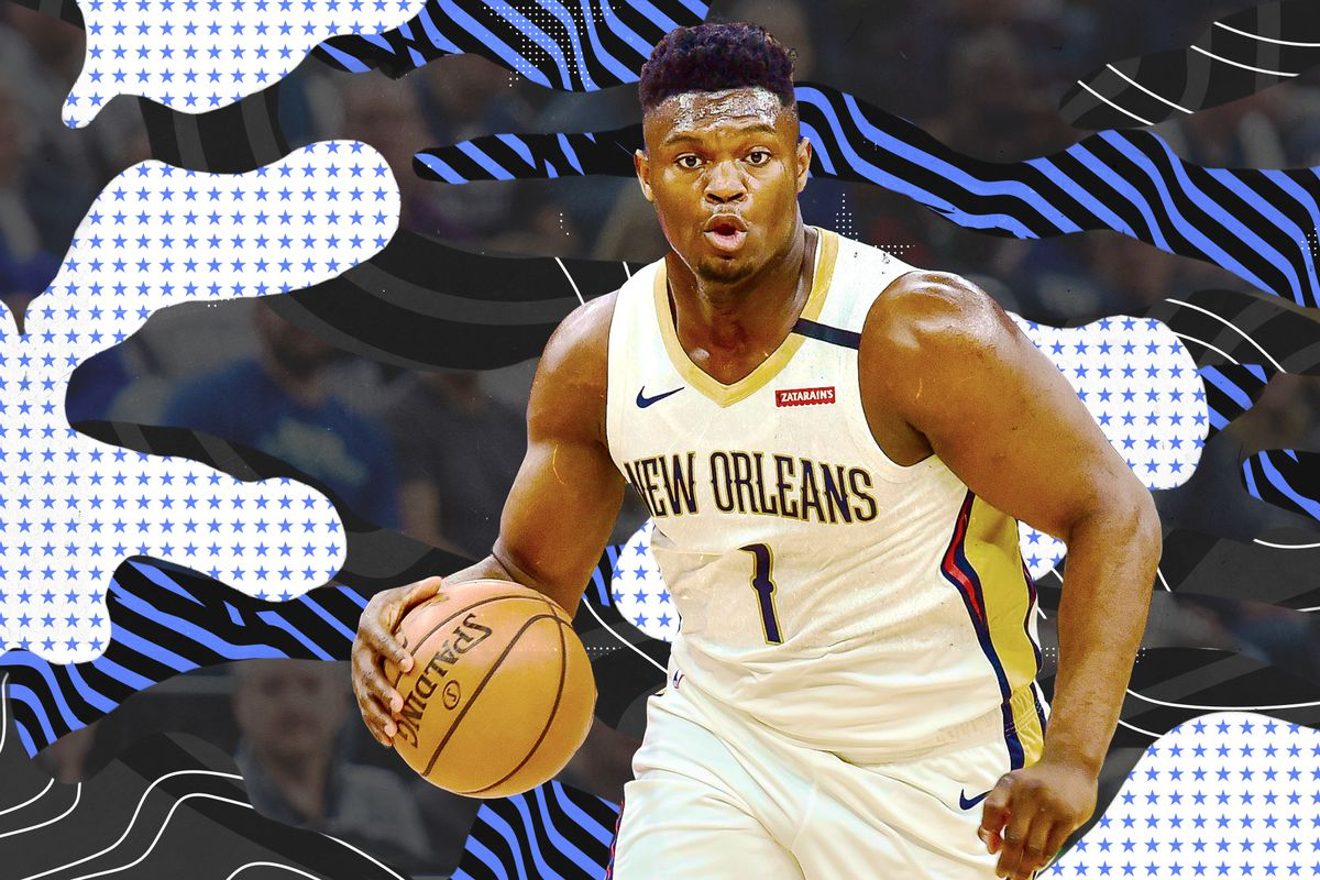 Zion Williamson dribbles for the Pelicans.