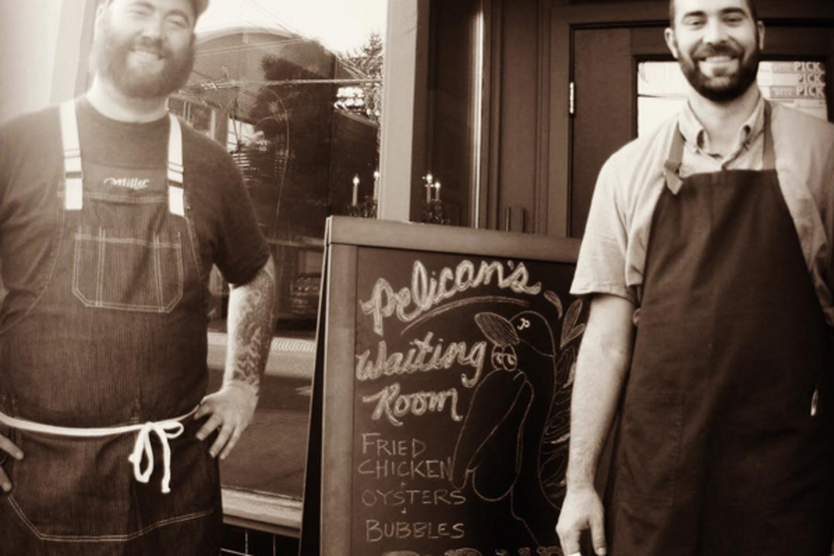 The chefs behind The Waiting Room: Thomas Dunklin [left] and Kyle Rourke