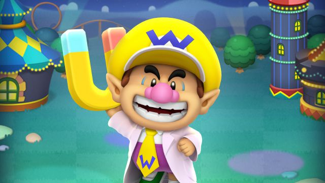 artwork of Dr. Baby Wario in Dr. Mario World
