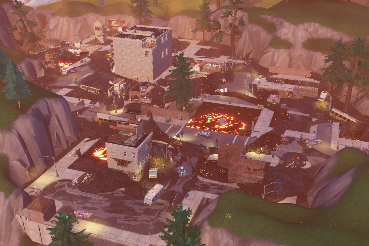 Fortnite S Volcano Erupted Destroying Tilted Towers And