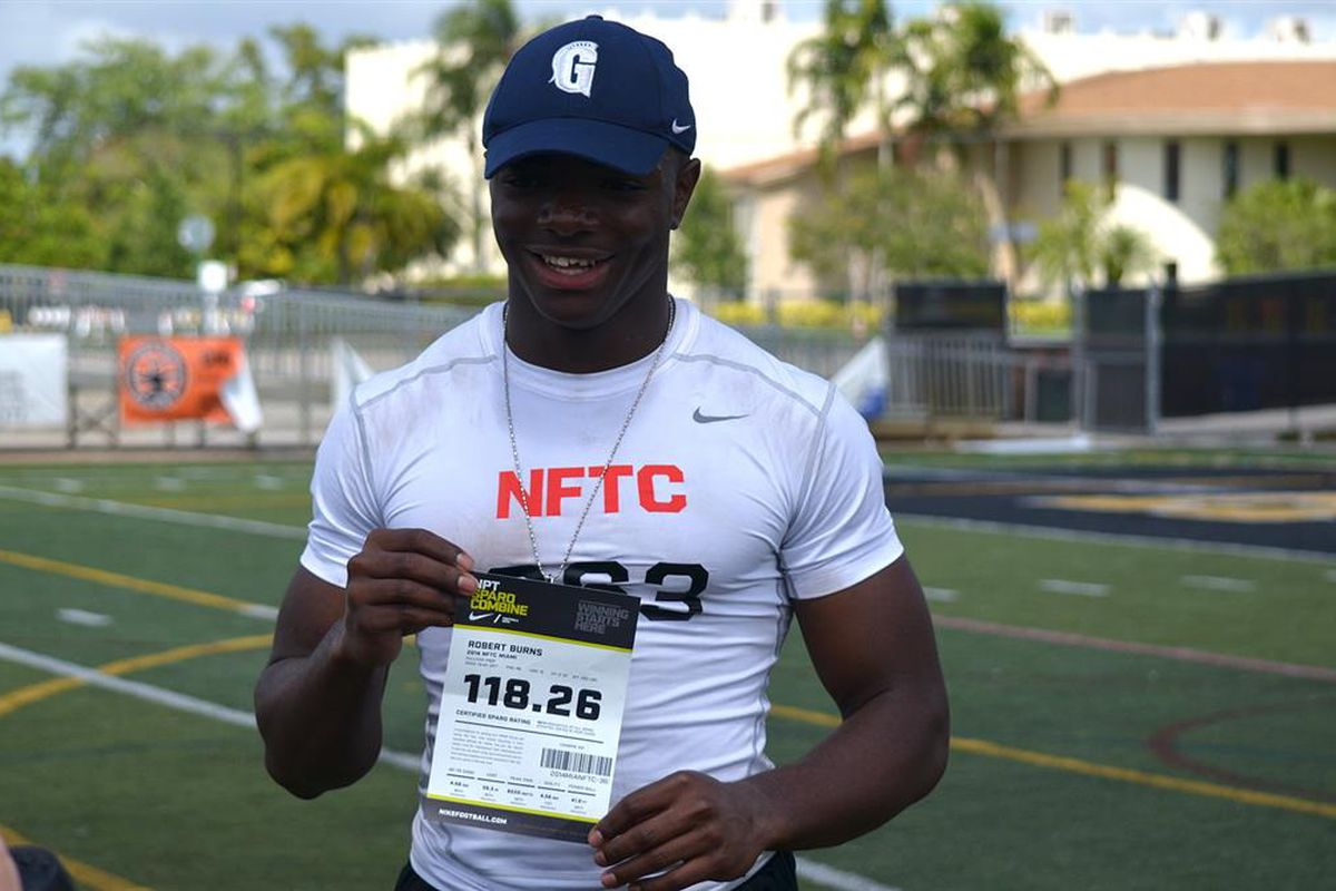 Elite 2017 RB Robert Burns is the latest player to commit to the Hurricanes.