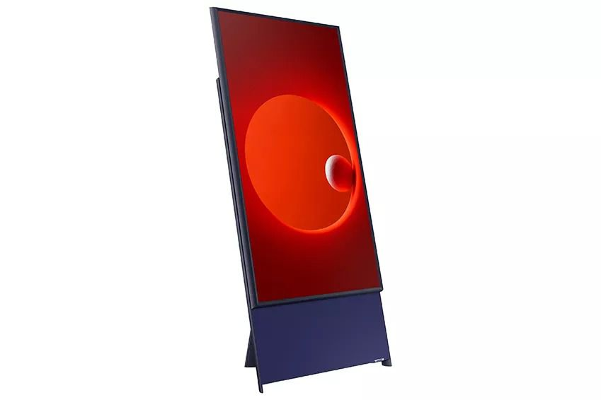 Vertical TV on stand