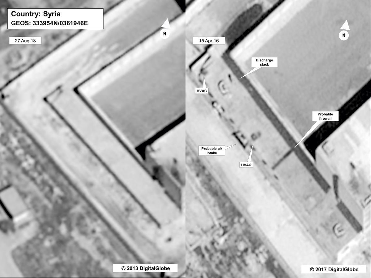 State Department evidence suggesting the existence of a crematorium at the Sednaya Prison complex.