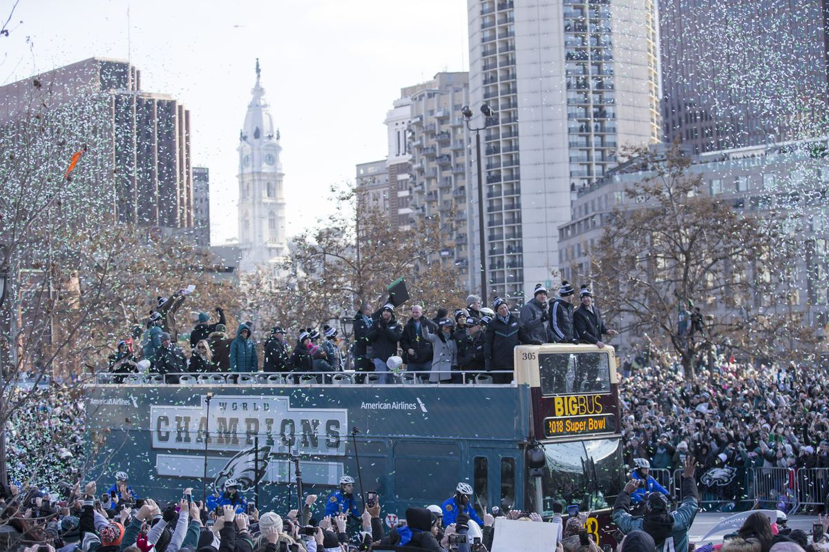 eba2e23fa Eagles parade 2018 live updates: Highlights from Philadelphia's Super Bowl  celebration