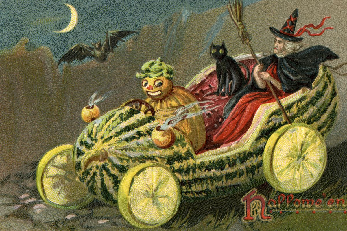 Design Tiny Home These Vintage Halloween Postcards Are Everything Curbed