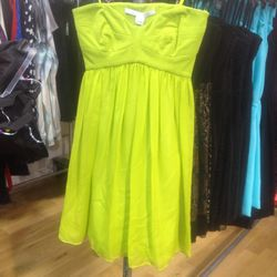 Strapless dress, $100