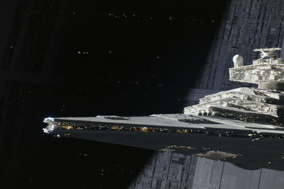 """A Star Destroyer in """"Rogue One: A Star Wars Story."""""""