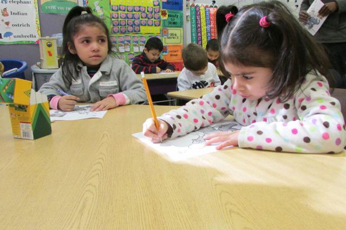 Preschoolers at Shepherd Community Center.