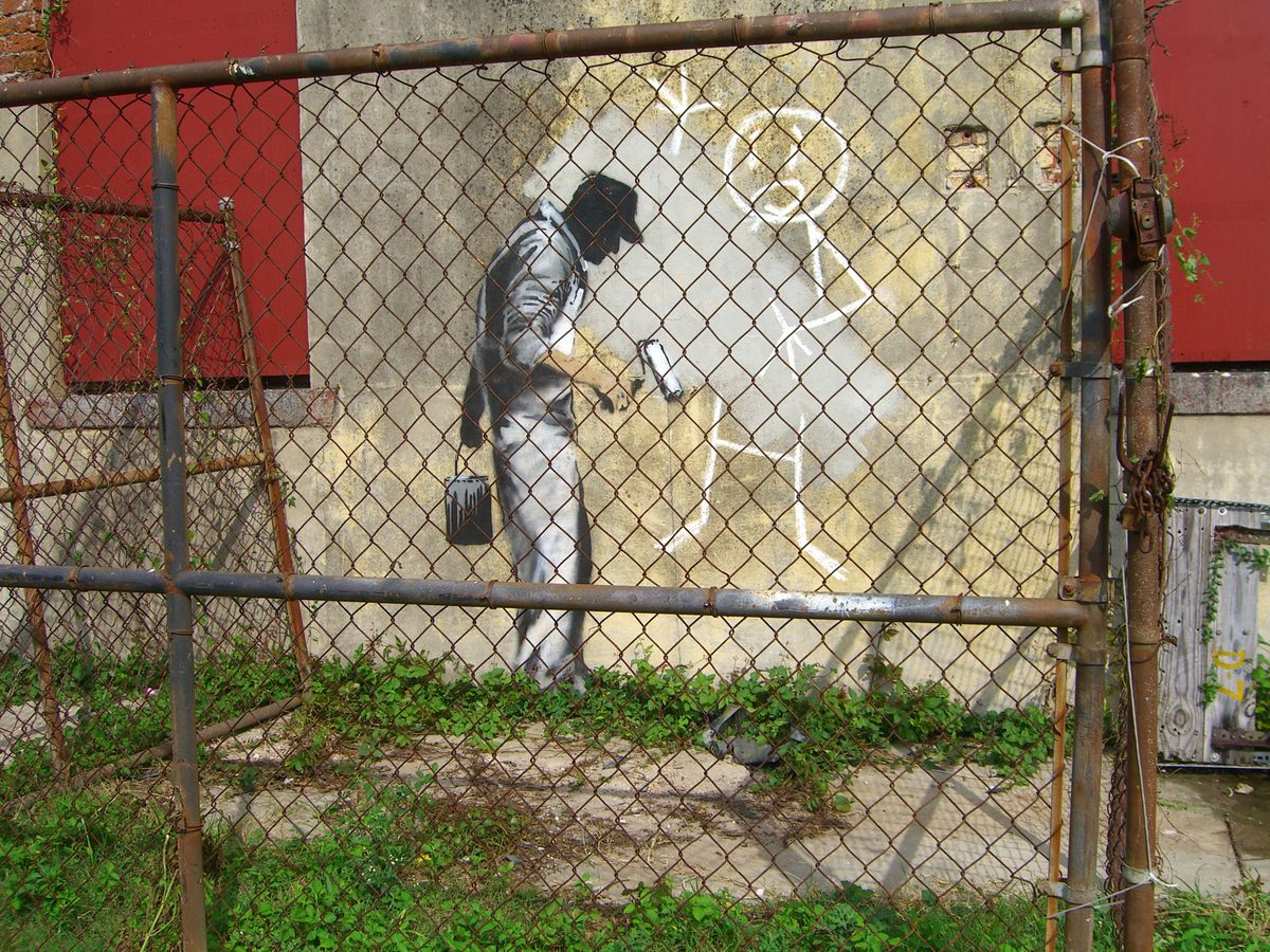 Banksy depicts The Gray Ghost