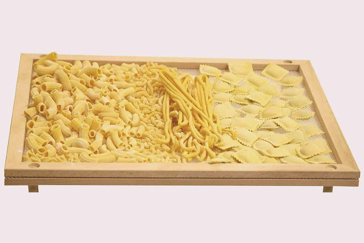 A food dryer with assorted pastas