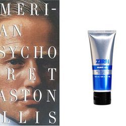 "For Patrick Bateman: <a href=""http://www.birchbox.com/men/shave/zirh-shave-gel"">Zirh translucent shave gel</a>, so he can maintain his clean-shaven look"