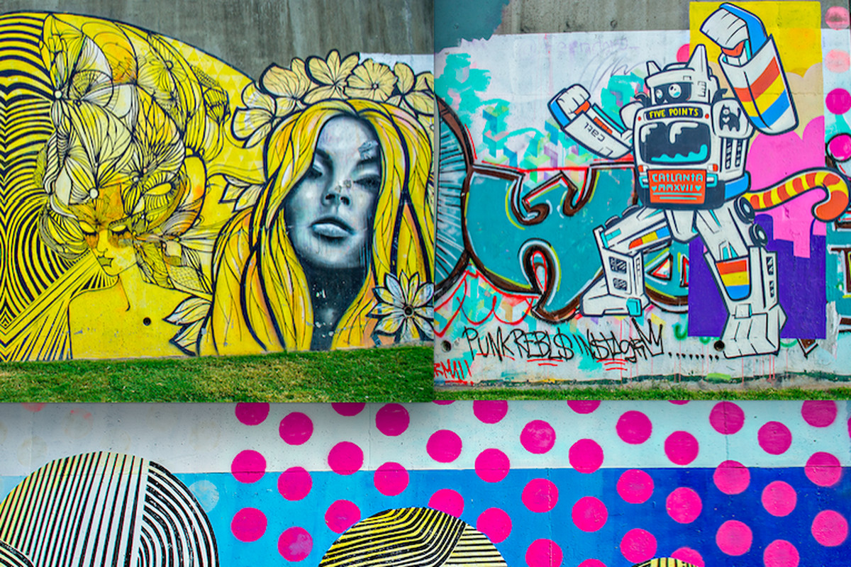 Photos atlanta beltline s new eastside trail has artful for Atlanta mural artist