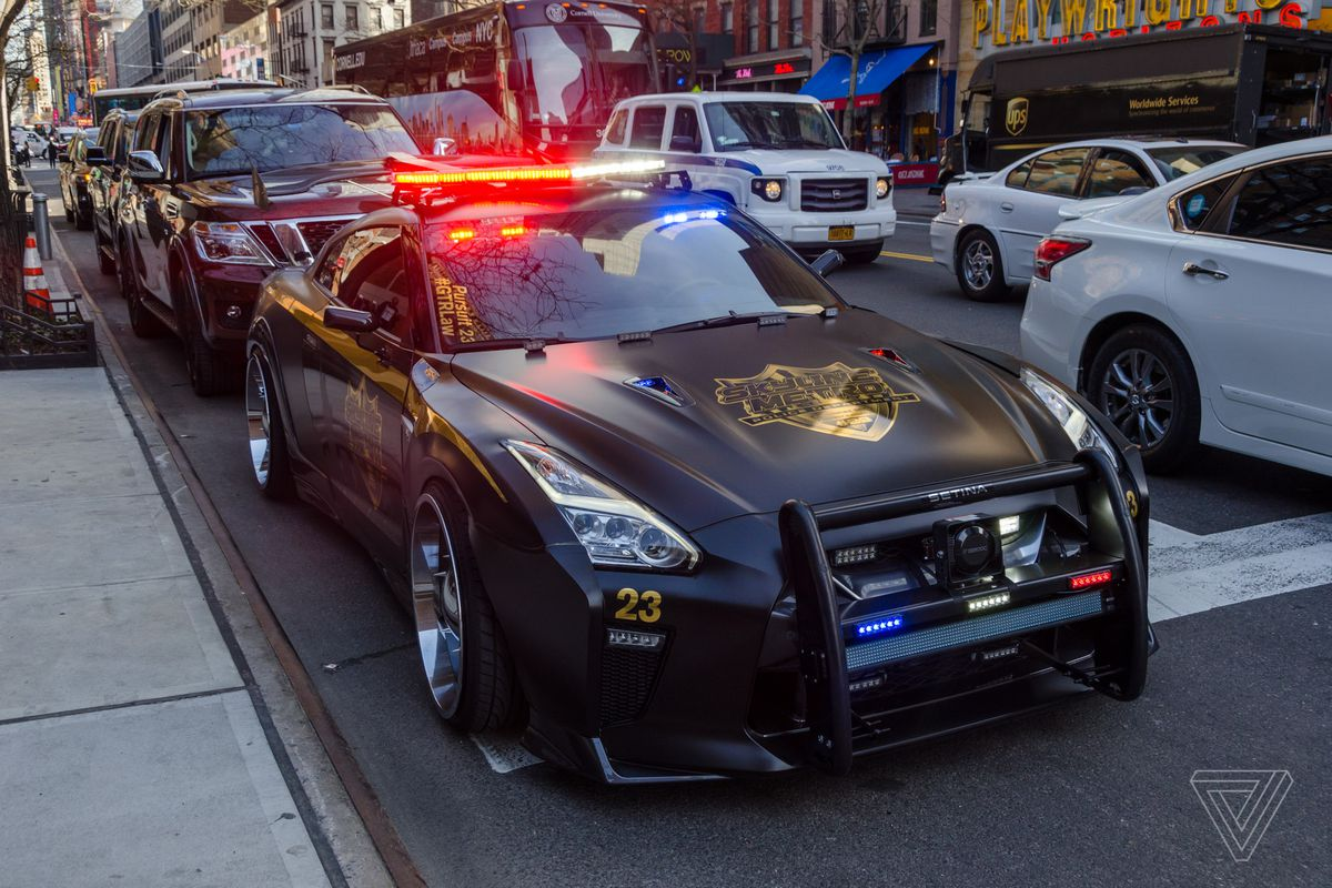 This Nissan Gt R Looks Like The Evil Cop Car From Transformers