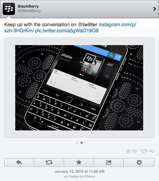 BlackBerry iPhone
