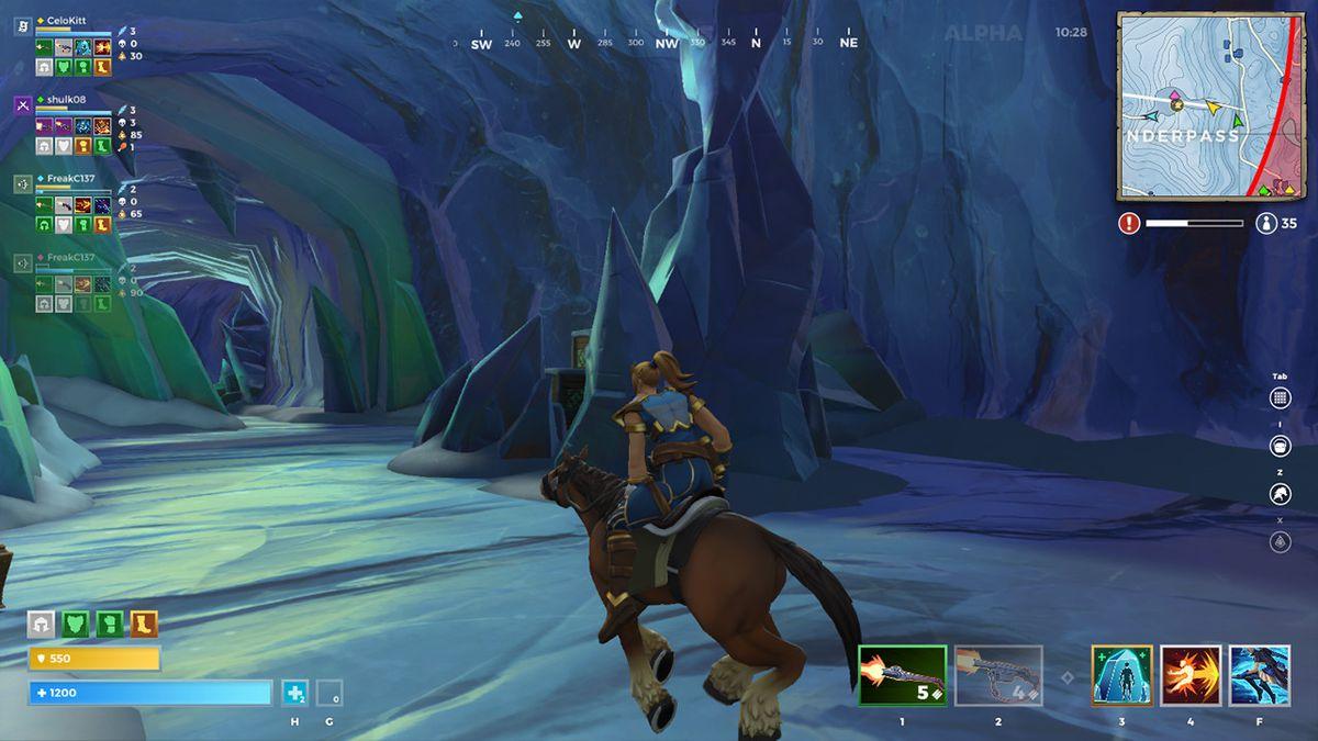 Montando um cavalo no Realm Royale