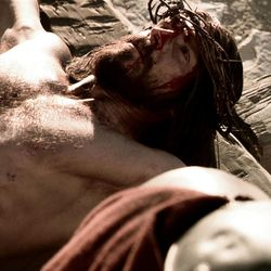 """Jesus is nailed to the cross in new LDS Bible video, """"He is Risen."""""""