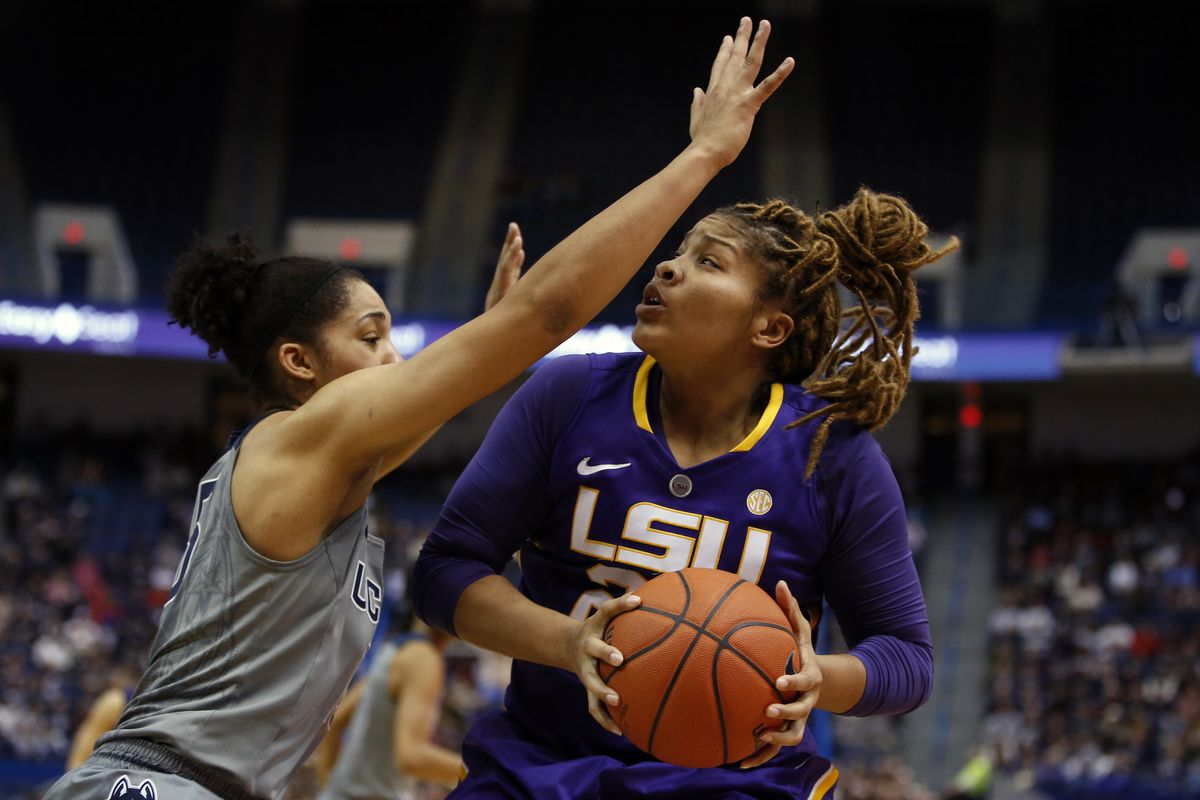 Alexis Hyder's 20 points led LSU to a first-round win over Alabama in the SEC tournament.