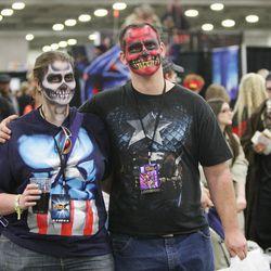 Shannon Johnson and Chris Hurless walk through Comic Con at the Salt Palace in Salt Lake City Thursday, April 17, 2014.