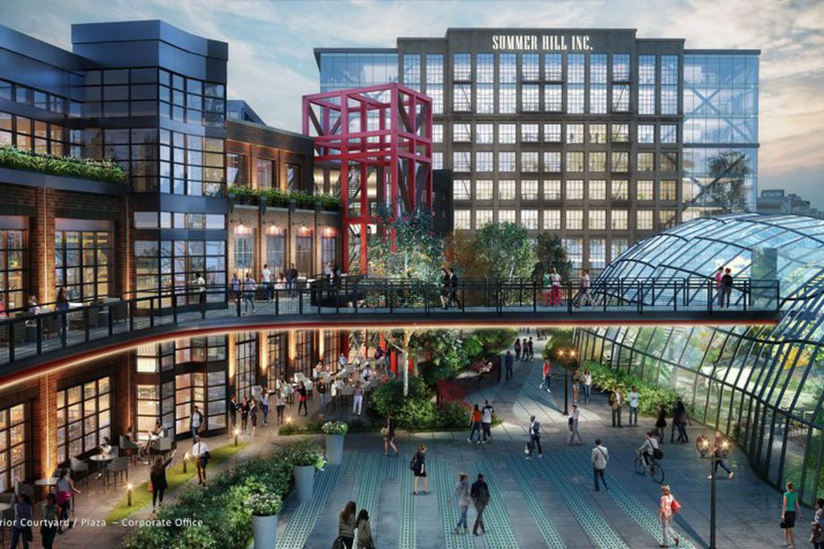 A rendering for the Turner Field redevelopment in downtown Atlanta's Summerhill.