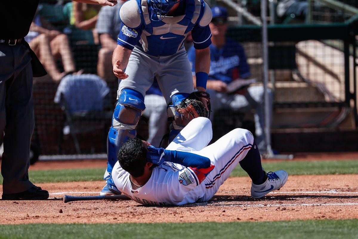 MLB: MAR 08 Spring Training - Dodgers at Rangers