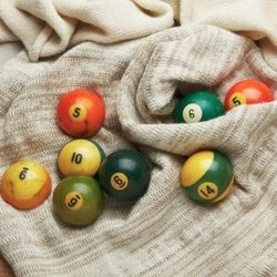 """Vintage billiard balls from the 1930s through the 1970s ($15 to $30) from <a href=""""http://rifleandradford.com/"""">Rifle + Radford</a>"""