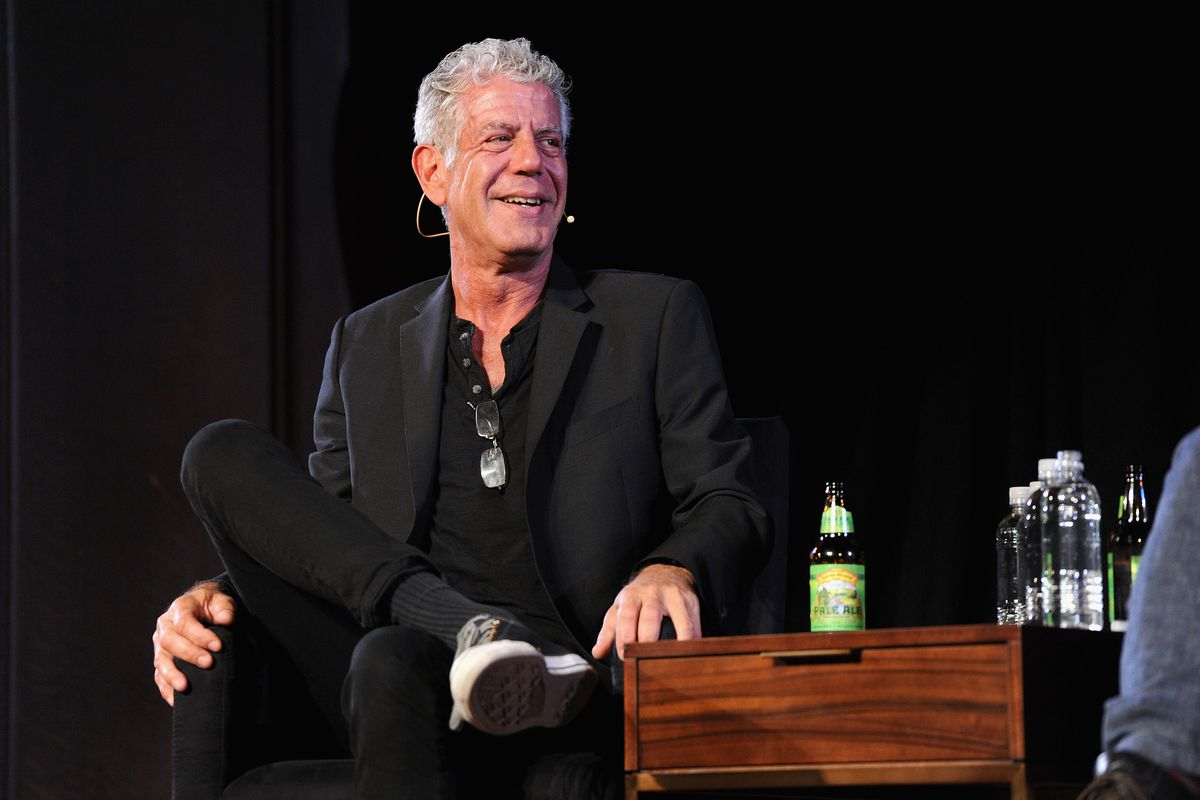 Anthony Bourdain at the New Yorker Festival in 2017