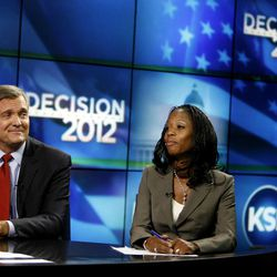 Fourth Congressional District candidates Rep. Jim Matheson and Saratoga Springs Mayor Mia Love participate in their second debate on KSL 5 News in Salt Lake City on Thursday, Sept. 27, 2012. Matheson announced on Tuesday, Dec. 17, 2013, that he will not seek re-election in 2014.