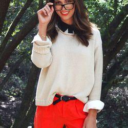 Acne sweater, $78; BB Dakota Shorts, $38