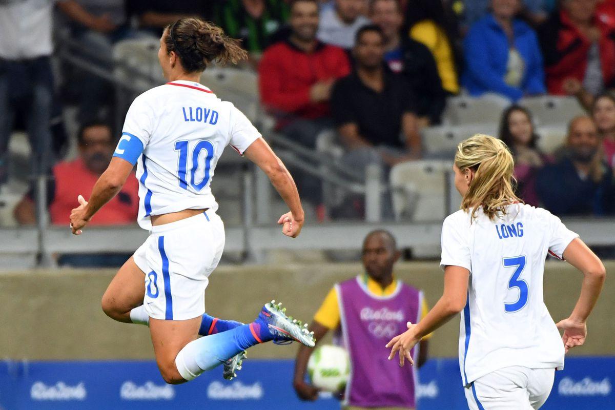 Olympics: Football-Women's Team-1st Round Group G-United States (USA) vs New Zealand (NZL)