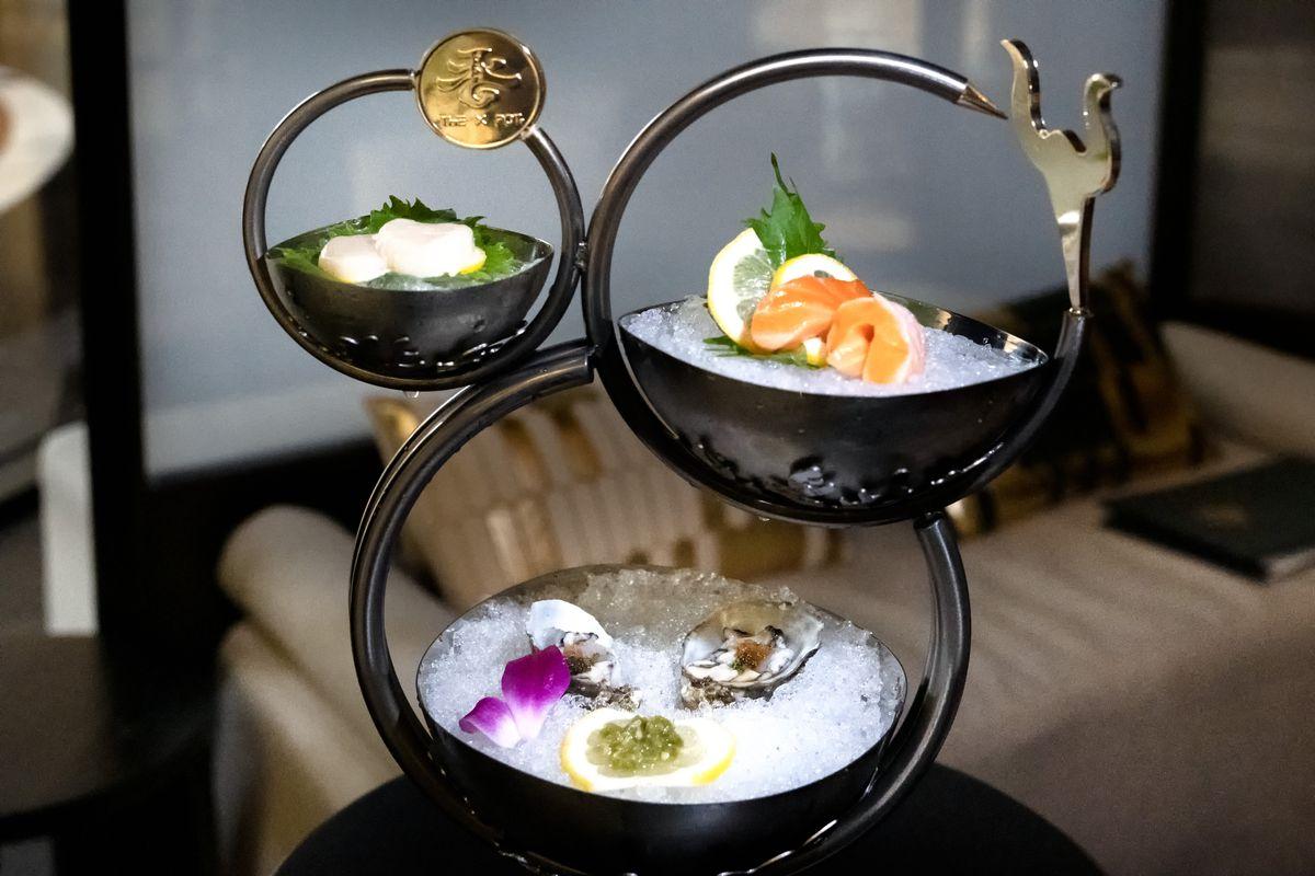 Seafood platter at The X Pot