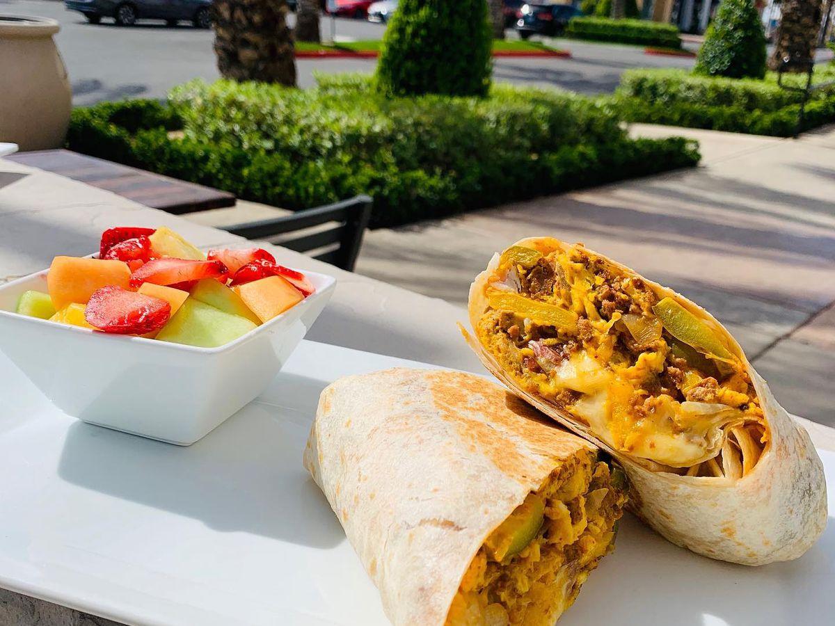 Breakfast burrito at Sunny Side Up