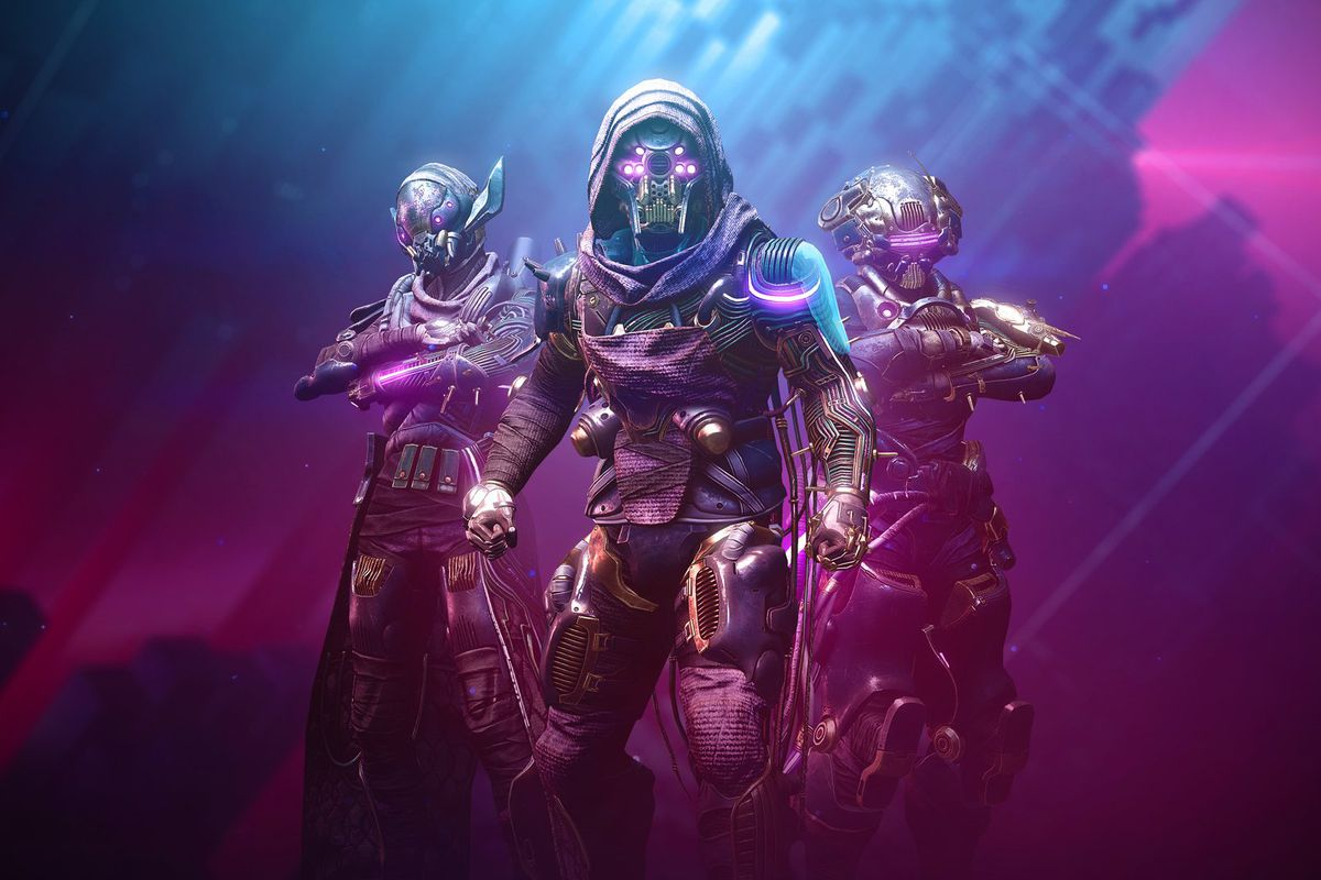Several Destiny 2 players wearing Season of the Splicer armor