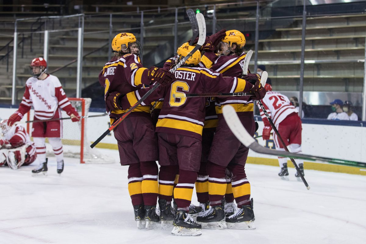 NCAA Hockey: Big Ten Hockey Championship-Minnesota vs Wisconsin