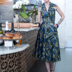 """""""The jewelry is stuff I picked up for a dollar at Time After Time Vintage in North Carolina where I was a surly clerk over 15 years ago. The shoes are from Olivera St. In Los Angeles."""""""