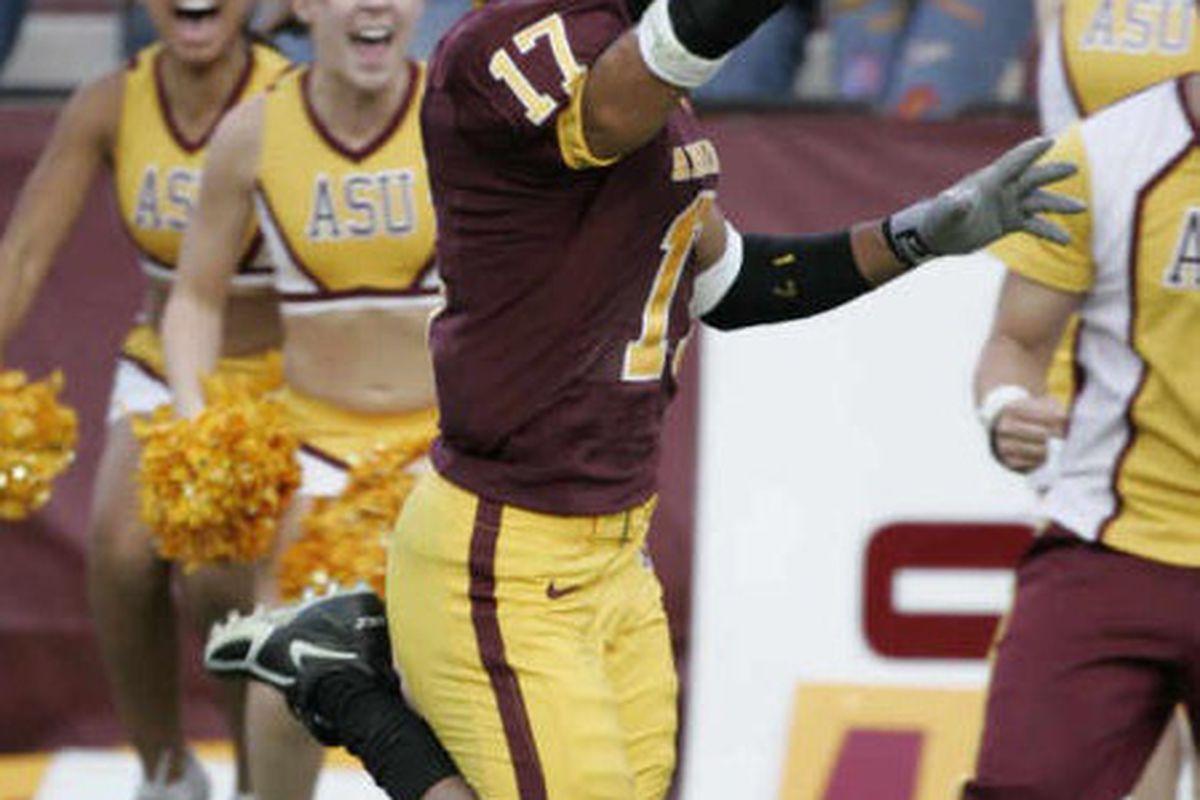 Terry Richardson celebrates his amazing return (Photo: ASU)